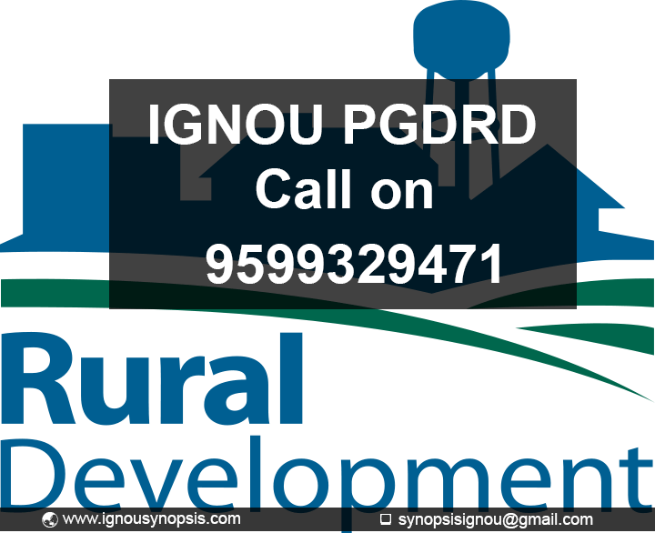 IGNOU PGDRD Project | Post Graduate Diploma In Rural | RDD 5