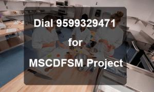 IGNOU MSC DFSM Project