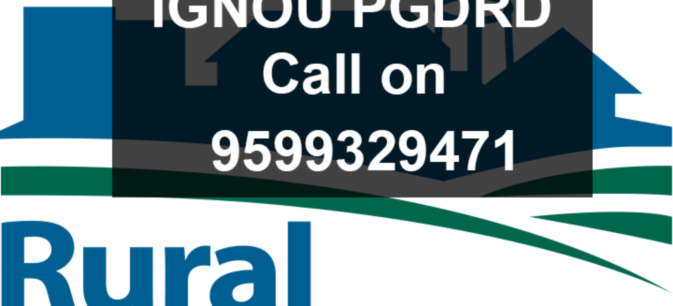IGNOU PGDRD Project (Post Graduate Diploma In Rural)