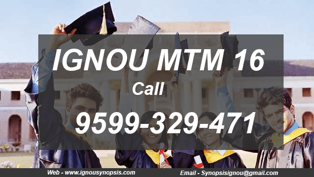 ignou mttm project synopsis