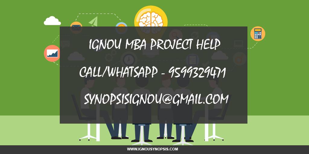 ignou mba project help