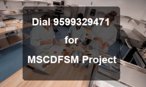 IGNOU MSC DFSM Project