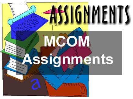 Ignou MCOM Solved Assignment 2020 21