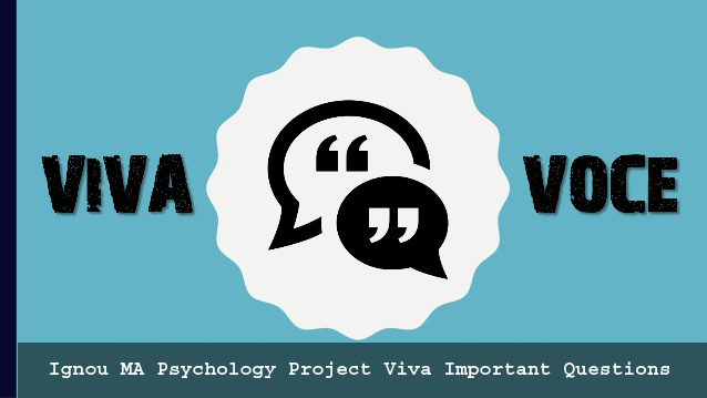 Ignou MA Psychology Project Viva