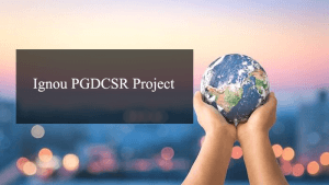 Ignou PGDCSR Project
