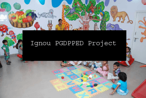 Ignou PGDPPED Project